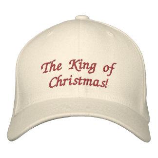 Der König des Weihnachten gestickten Hutes Bestickte Kappe
