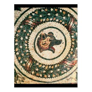 Der Kopf des Bären, römisches Mosaik, frühes 4. Ja Postkarte