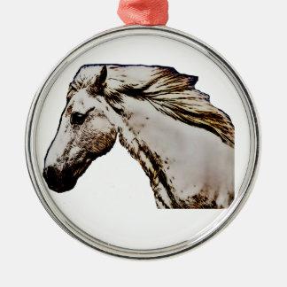 Der Kopf des Pferds Silbernes Ornament