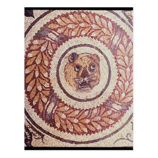 Der Kopf des Tigers, römisches Mosaik, frühes 4. Postkarte