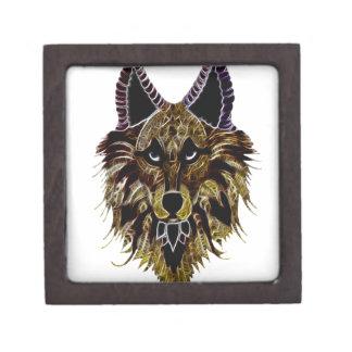 Der Kopf des Wolfs Schmuckkiste
