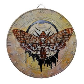 Der Kopf-Falke-Motte des Todes Dartscheibe