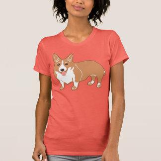 Der korallenrote T - Shirt der Walisercorgi-Frauen