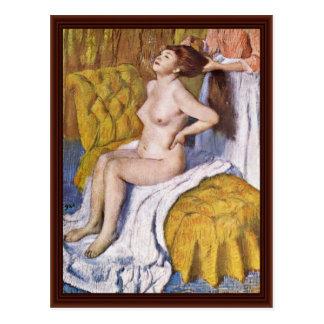 Der Körper durch Edgar Degas Postkarte