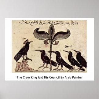 Der Krähen-König und sein Rat durch arabischen Poster