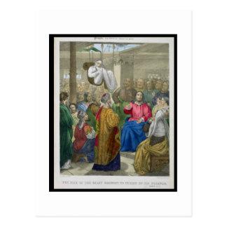 Der Kranke der Lähmung holte Christus bis zum Postkarte