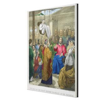 Der Kranke der Lähmung holte Christus bis zum sein Gespannte Galeriedrucke