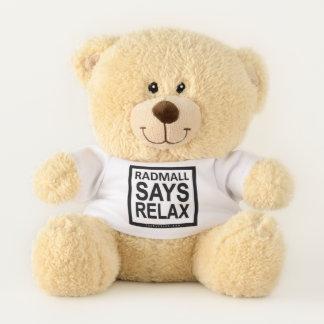 """Der krasse Mall """"RADMALL SAGT sich ENTSPANNEN"""" Teddybär"""