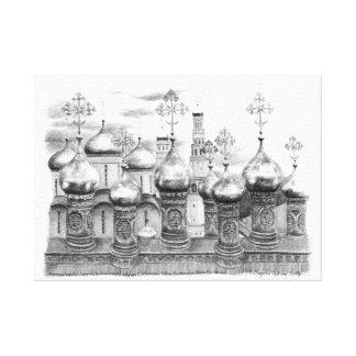 Der Kreml-Kirchen durch Svetlana Ledneva-Schukina Leinwanddruck