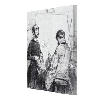 Der Kritiker, veröffentlicht 'in Lecons und in Con Gespannter Galeriedruck