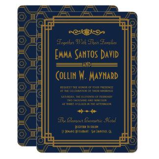 Der kundenspezifische blaue Wedding Kunst-Deko 12,7 X 17,8 Cm Einladungskarte