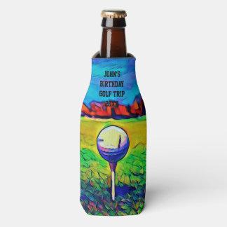 Der kundenspezifische Golf spielende Geburtstag Flaschenkühler
