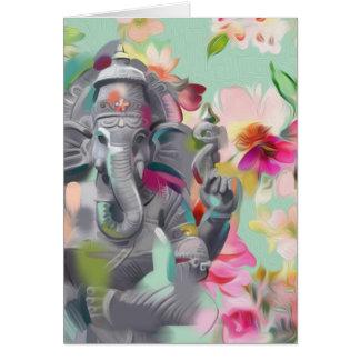 Der Kunst-Grußkarte | Buddhas Ganesha Bestimmtheit Karte