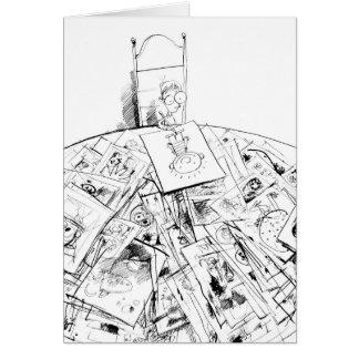 Der Künstler als junger Mann-Schnur Karte