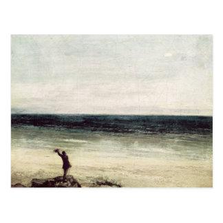 Der Künstler auf der Küste bei Palavas Postkarte
