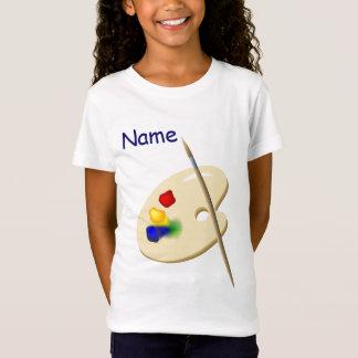 Der Künstler-Paletten-Mädchen der Kinder zacken T-Shirt