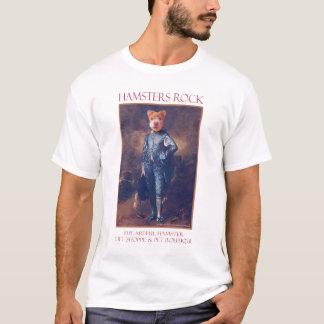 Der kunstvolle Hamster-blauer Jungen-T - Shirt