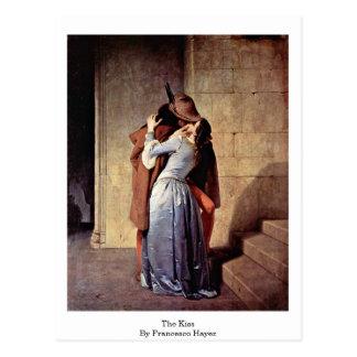 Der Kuss durch Francesco Hayez Postkarte