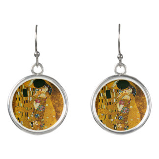 Der Kuss durch Gustav Klimt - baumeln Sie Ohrringe