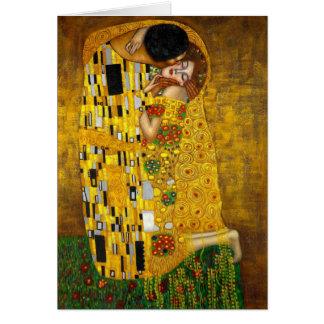 Der Kuss durch Gustav Klimt Karte