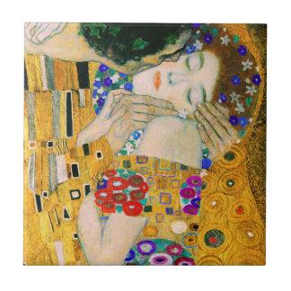 Der Kuss durch Gustav Klimt Keramikfliese