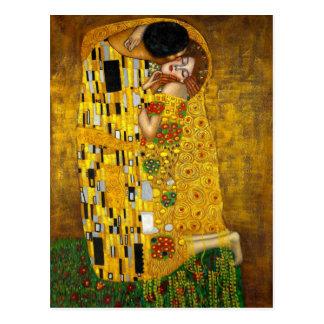 Der Kuss durch Gustav Klimt Postkarte