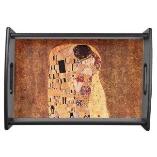 Der Kuss durch Gustav Klimt Tablett