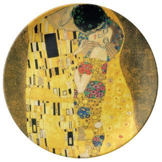 Der Kuss durch Gustav Klimt Teller