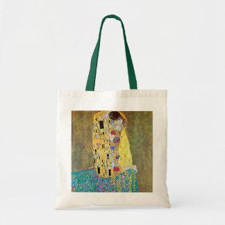 Der Kuss durch Gustav Klimt, Vintage Kunst Nouveau Budget Stoffbeutel