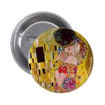 Der Kuss durch Gustav Klimt, Vintage Kunst Nouveau Button