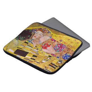 Der Kuss durch Gustav Klimt, Vintage Kunst Nouveau Computer Sleeve Schutzhüllen
