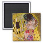 Der Kuss durch Gustav Klimt, Vintage Kunst Nouveau Magnets