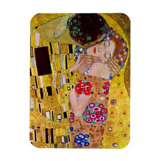Der Kuss durch Gustav Klimt, Vintage Kunst Nouveau Rechteckiger Fotomagnet