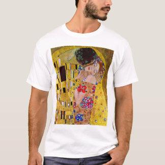Der Kuss durch Gustav Klimt, Vintage Kunst Nouveau T-Shirt