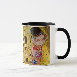 Der Kuss durch Gustav Klimt, Vintage Kunst Nouveau Tasse