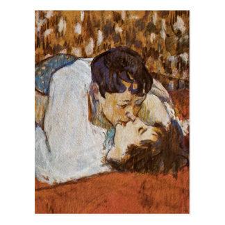 Der Kuss - durch Henride Toulouse-Lautrec Postkarte
