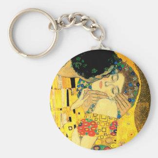 Der Kuss durch Kunst Nouveau Gustav Klimt Schlüsselanhänger
