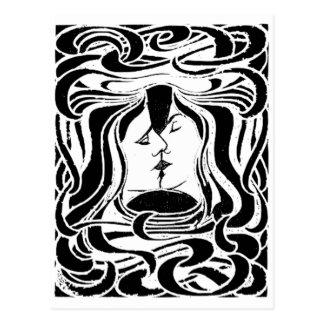Der Kuss Postkarte