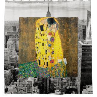 Der Kuss von New York Duschvorhang