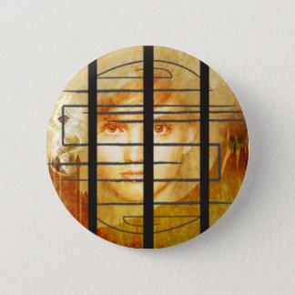 Der Labyrinth-Wand-Knopf Runder Button 5,7 Cm