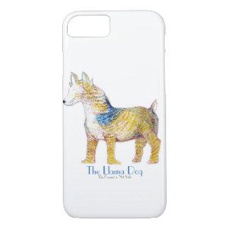 Der Lama-Hund - hybrides Geschöpf im Aquarell iPhone 8/7 Hülle