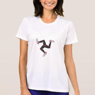 Der Läufer-Shirt der Manx Frauen T-Shirt
