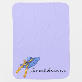 Der Lavendel Land-des blauen Mützen-Mädchens Babydecke