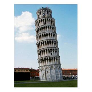 Der lehnende Turm von Pisa 2 Postkarte
