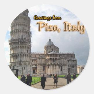 Der lehnende Turm von Pisa, Italien Runde Aufkleber