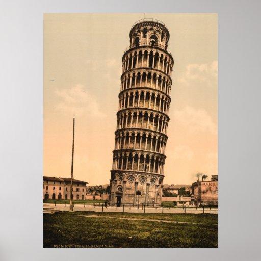 Der lehnende Turm von Pisa, Toskana, Italien Plakatdruck
