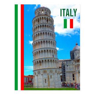 Der lehnende Turm von Pisa und von italienischen Postkarte