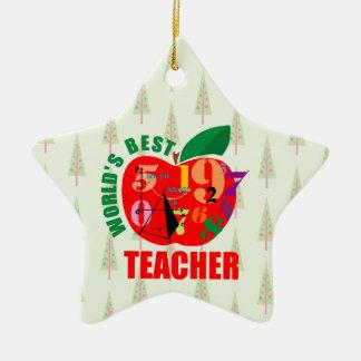 Der Lehrer-Apples   der Welt beste Mathe-Geometrie Keramik Ornament