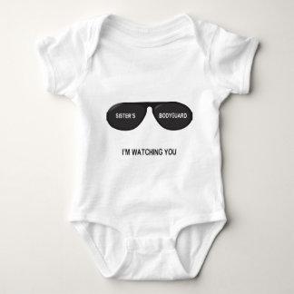 Der Leibwächter-Gläser der Schwester - für Baby Baby Strampler