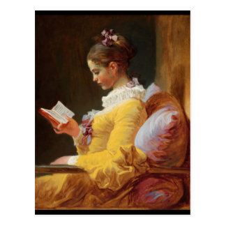 Der Leser Postkarte